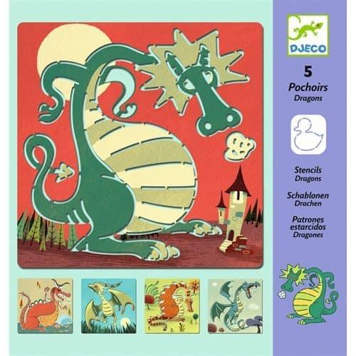 Djeco: Schablonen Drachen