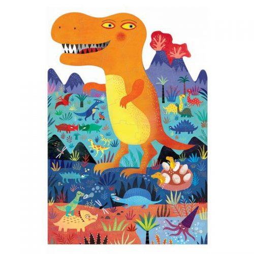 Mit dem wunderschönen 36-teiligen Puzzle entdecken Kinder ab 3 Jahren die Welt von Londjis Jurassic Park.