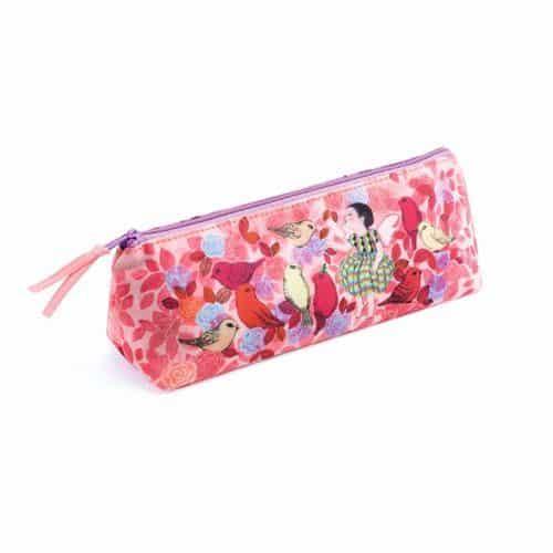 Djeco Stiftemäppchen ELODIE aus Baumwolle in Pinktönen