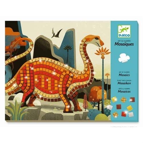 Djeco: Kunst nach Zahlen - Mosaik stickern Dinosaurier