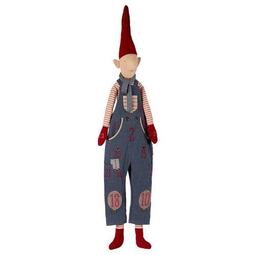 Maileg Adventskalender Wichtel Boy Pixi mit Zipfelmütze 143 cm
