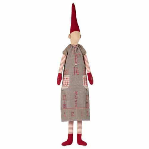 Maileg Adventskalender Wichtel Girl Pixi mit Zipfelmütze 150 cm