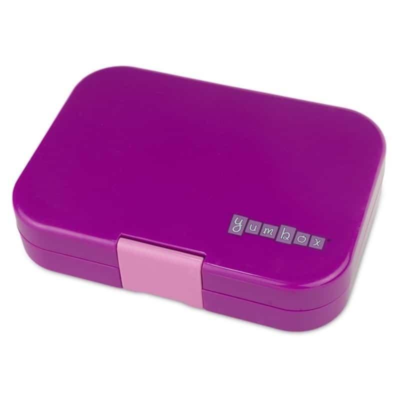 yumbox panino bento lunchbox mit 4 facher unterteilung in in bijoux purple. Black Bedroom Furniture Sets. Home Design Ideas
