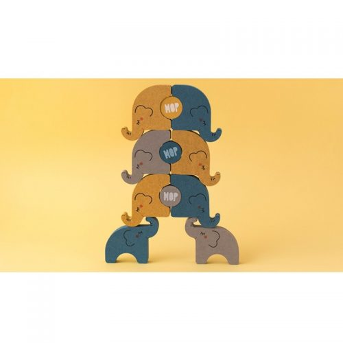 Londji Elefanten-Balancierspiel Alehop! aus Recycling-Holz