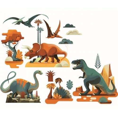 Djeco Fenstersticker Dinosaurier