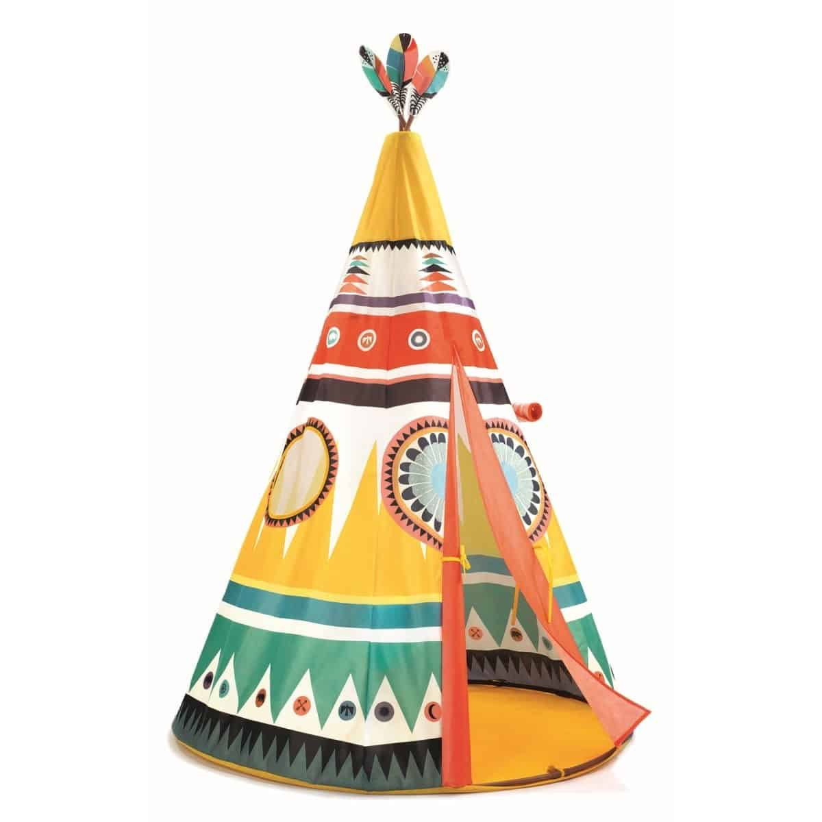 djeco tipi indianerzelt little big room mit federschmuck. Black Bedroom Furniture Sets. Home Design Ideas