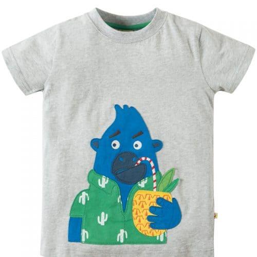 Frugi Kurzarm-Shirt mit Gorilla