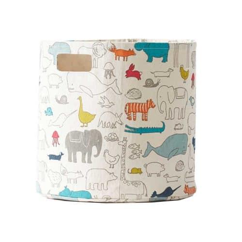 Spielzeugkorb Arche Noah aus Baumwoll-Canvas