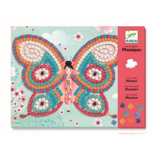 Djeco Mosaik stickern Schmetterlinge