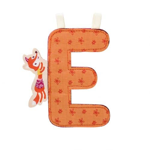 Lilliputiens Stoff-Buchstabe E