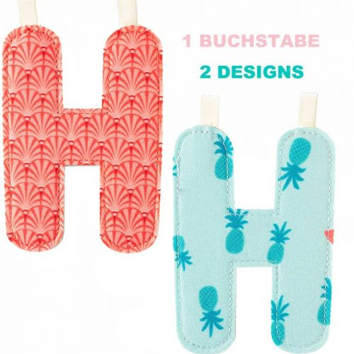 Lilliputiens Stoff-Buchstabe H in 2 Designs zum wenden
