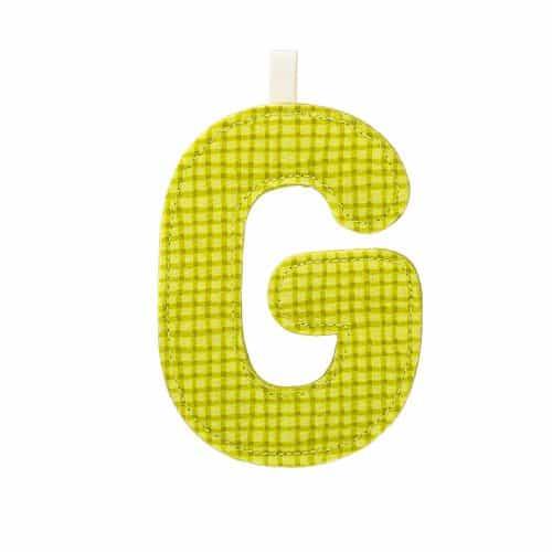 Lilliputiens Stoff-Buchstabe G