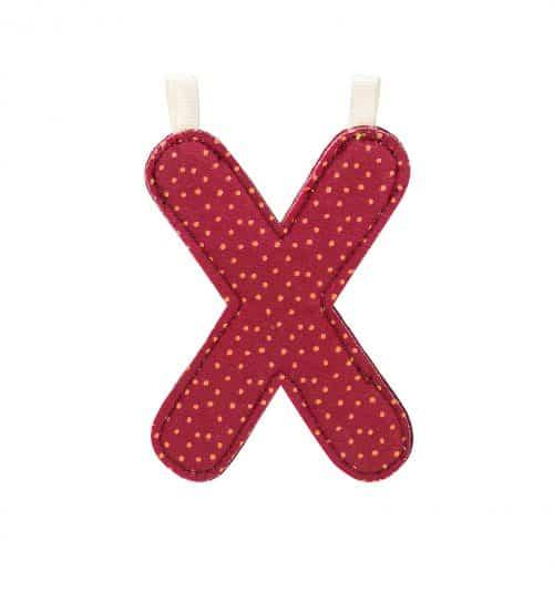 Lilliputiens Stoff-Buchstabe X