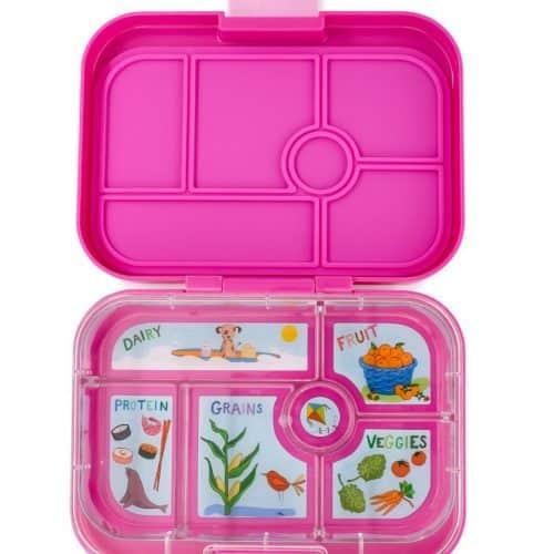Yumbox Original Bento Lunchbox Malibu pink mit 6-facher Unterteilung