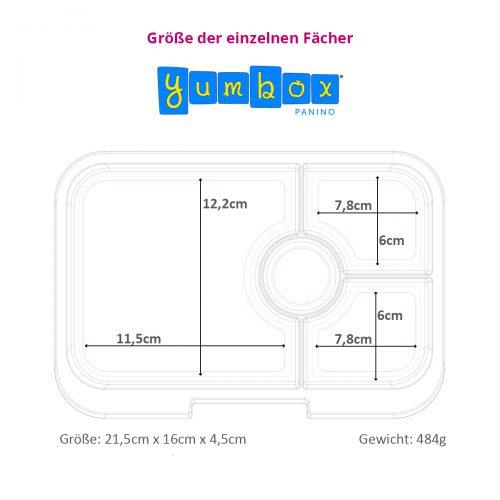 Yumbox Bento Panino Lunchbox Inlay Groessen-Einteilung