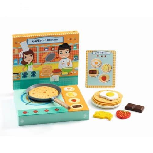 Pancakes backen Gaëlle et Titouan aus Holz von Djeco