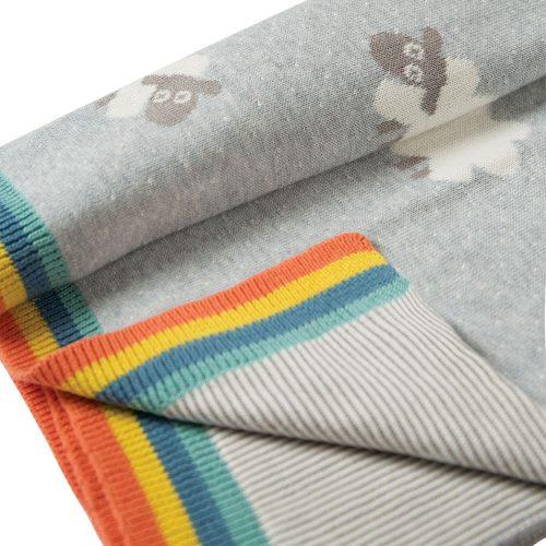 Frugi Baby-Strickdecke im niedlichen Schäfchen-Design