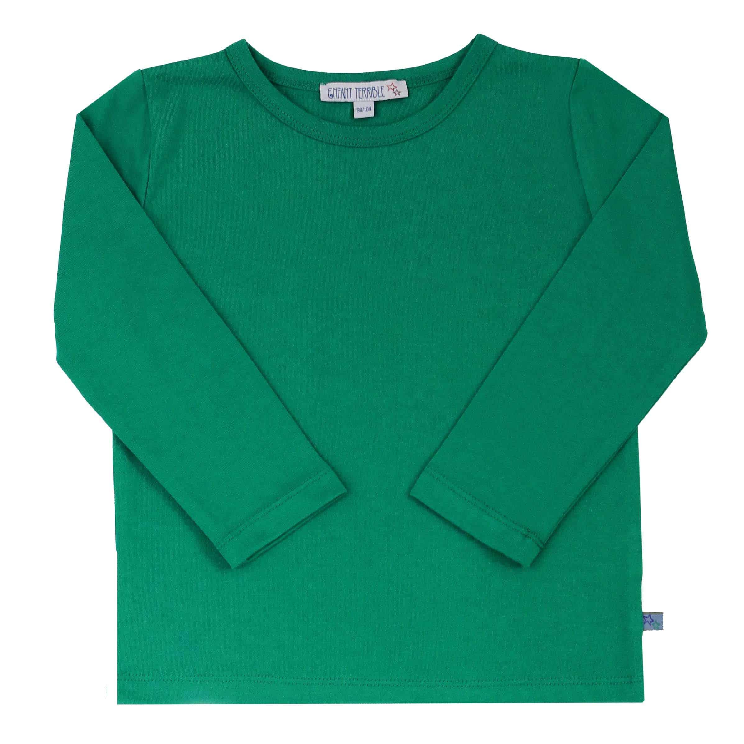 promo code 90a31 a67e3 Enfant Terrible Langarm-Shirt uni smaragd grün