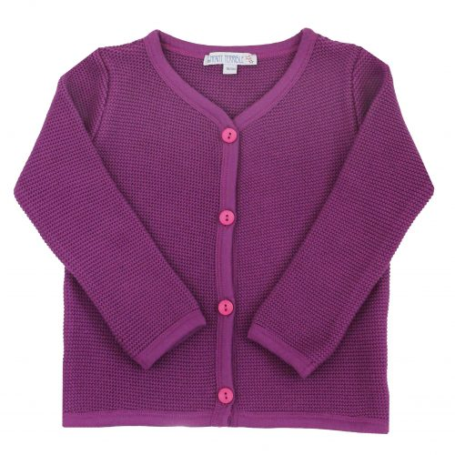 Strickjacke im Tachtenstil in violett von Enfant Terrible