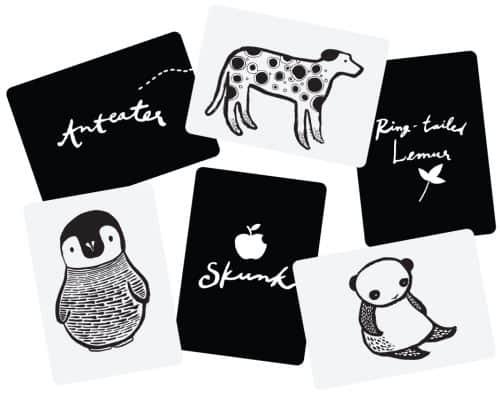 Wee Gallery Kunst Karten für Babys Black & White
