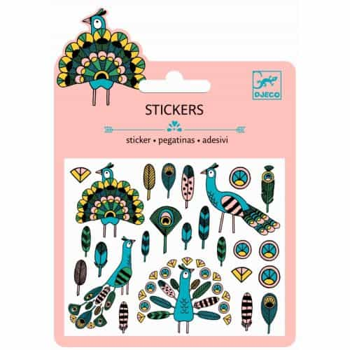 Djeco Mini Sticker Feathers and Peacocks
