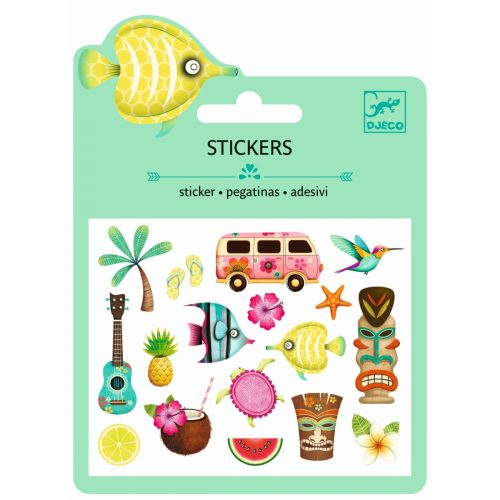 Djeco Mini Sticker Hawaiian Designs