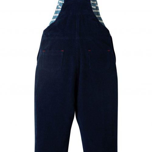 Frugi Cord-Latzhose Bagger in blau