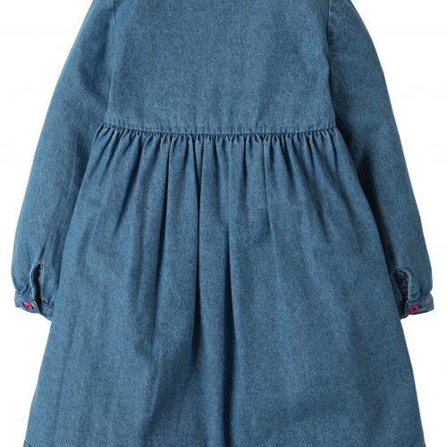 Frugi Denim-Kleid Edie mit Stickerei