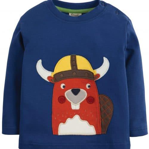 Frugi Langarm-Shirt Bieber in blau