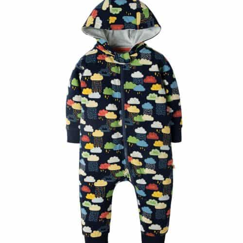 Frugi Jumpsuit Warm Scandi Skies in schwarz mit Print