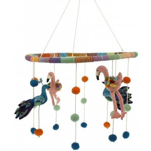 Fiona Walker England Mobile Flamingo & Pfau