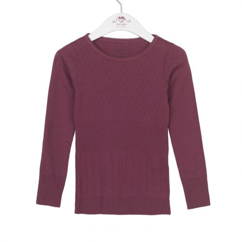 Noa Noa Miniature Langarm-Shirt DORIA in crushed violets