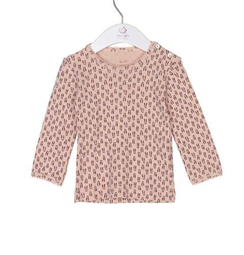 Noa Noa miniature Langarm-Shirt gemustert in cameo rose