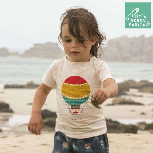 Little Green Radicals Kurzarm-Shirt Ballon aus Bio-Baumwolle, vegan