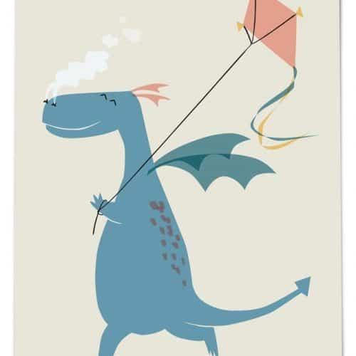 54 illustration Postkarte Drache neutral