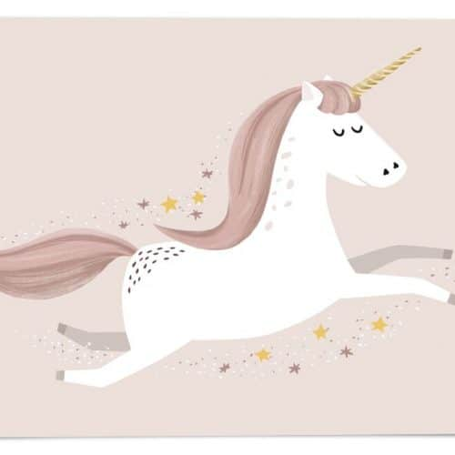 54 illustration Postkarte Einhorn neutral
