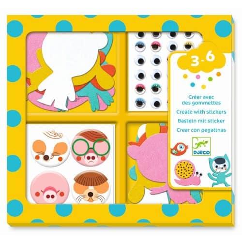 Djeco Basteln mit Stickern: Tiere