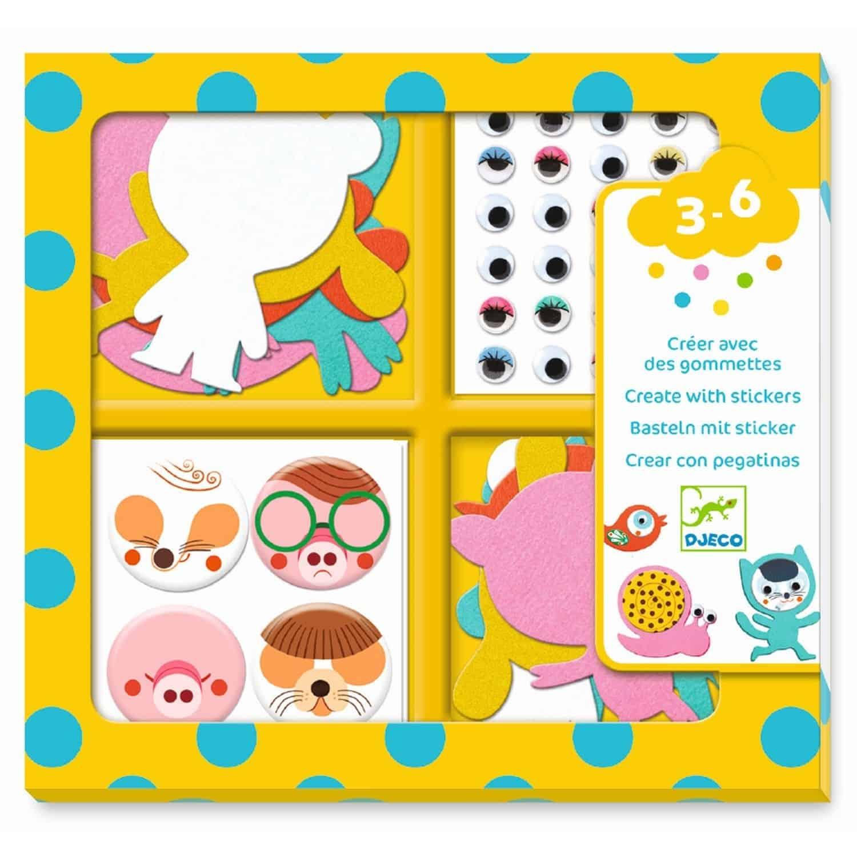 Djeco Basteln Mit Stickern Tiere Für Kinder Ab 3 Jahren