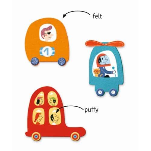 Djeco Basteln mit Stickern: Fahrzeuge