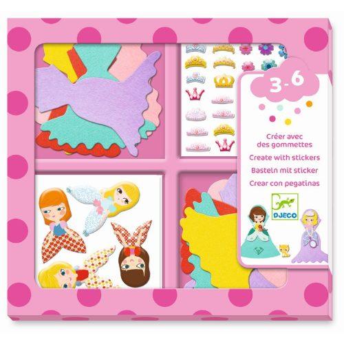 Djeco Basteln mit Stickern: Prinzessinnen