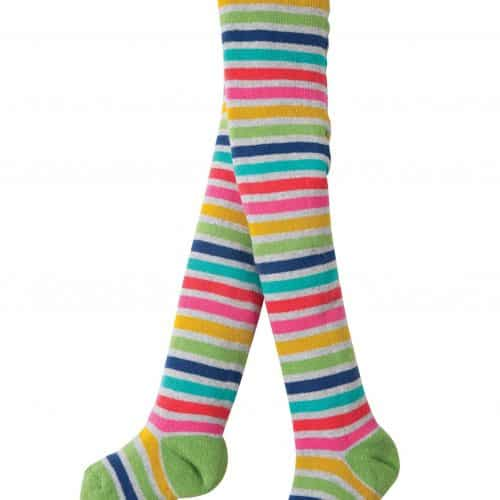 Frugi Thermo-Strumpfhose in grau-Rainbow
