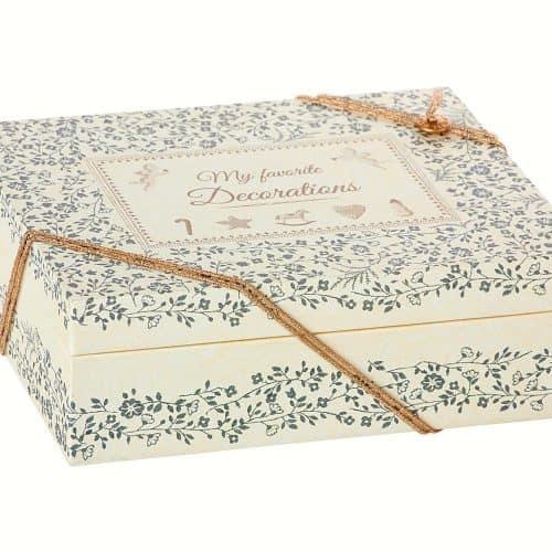 Maileg Box für Christbaumschmuck in weiss-blau