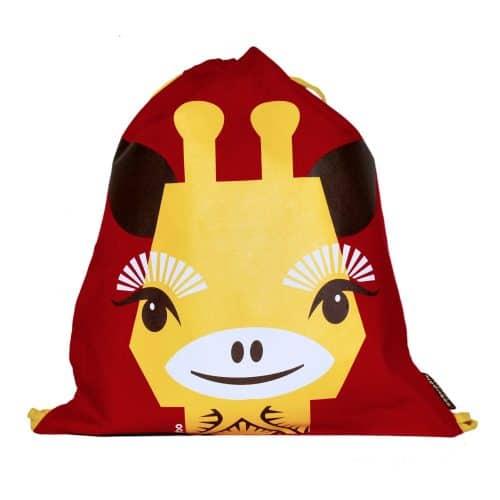 Coq en Pâte® Rucksack-Coq en Pâte® Rucksack-Turnbeutel Giraffe rot-gelb