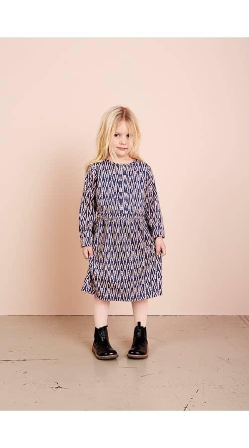 Noa Noa Miniature Kleid mit Zick-Zack-Print in vintage indigo