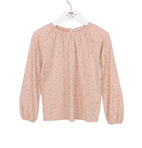 Noa Noa miniature Langarm-Shirt mit Punkten in cameo rose