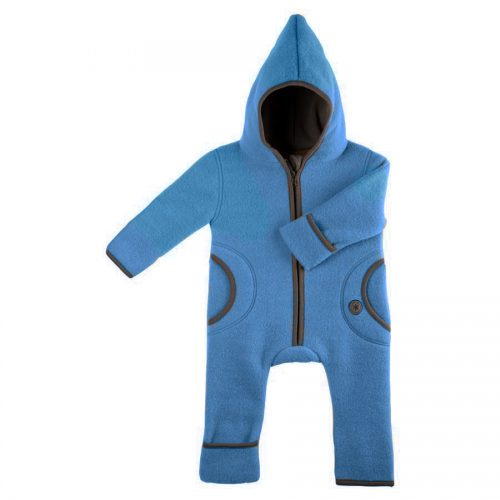 pure-pure by Bauer Wollfleece Overall in blau