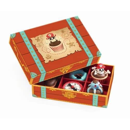 Djeco Kuchen für Piraten in einer Schatzkiste 6-teilig