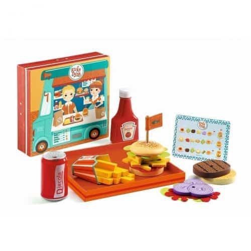 Djeco Rollenspiel: Burger und Pommes bei Ricky & Daisy