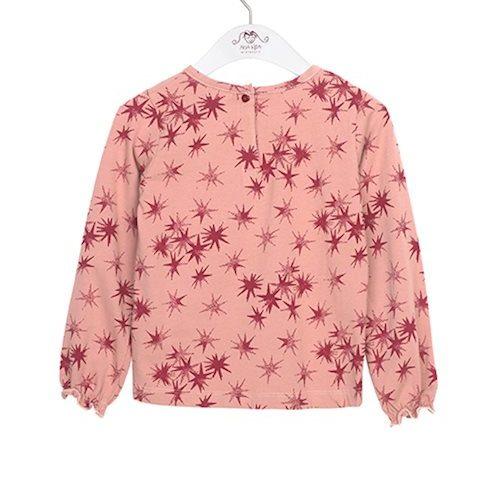 Noa Noa miniature Langarm-Shirt Capella mit Sternen in ash rose