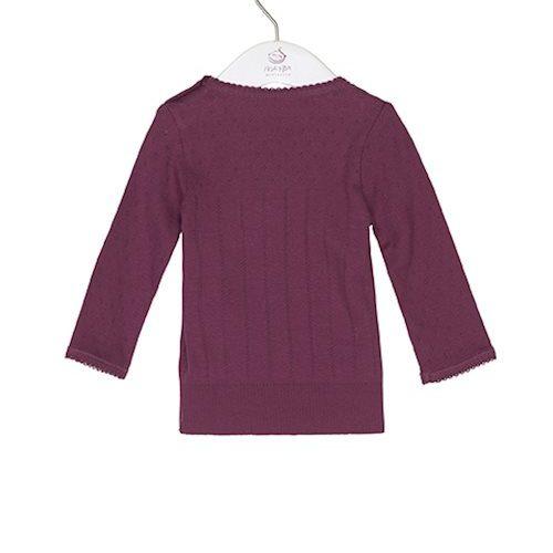 Noa Noa Langarm-Shirt DORIA mit Lochmuster in crushed violets